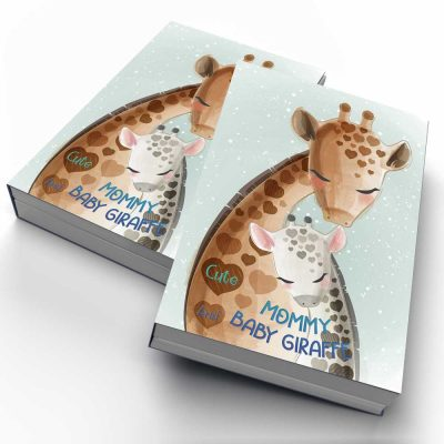 Cute Mommy and Baby Giraffe Notebook