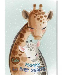 Cute-Mommy-and-Baby-Giraffe