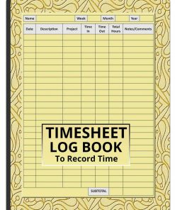 Timesheet Log Book To Record Time
