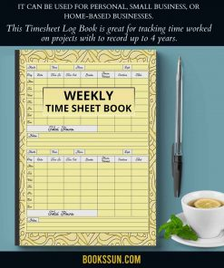 Weekly Time Sheet Book
