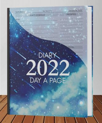 2022-2023 Diary Page a Day Hourly Calendar Appointment